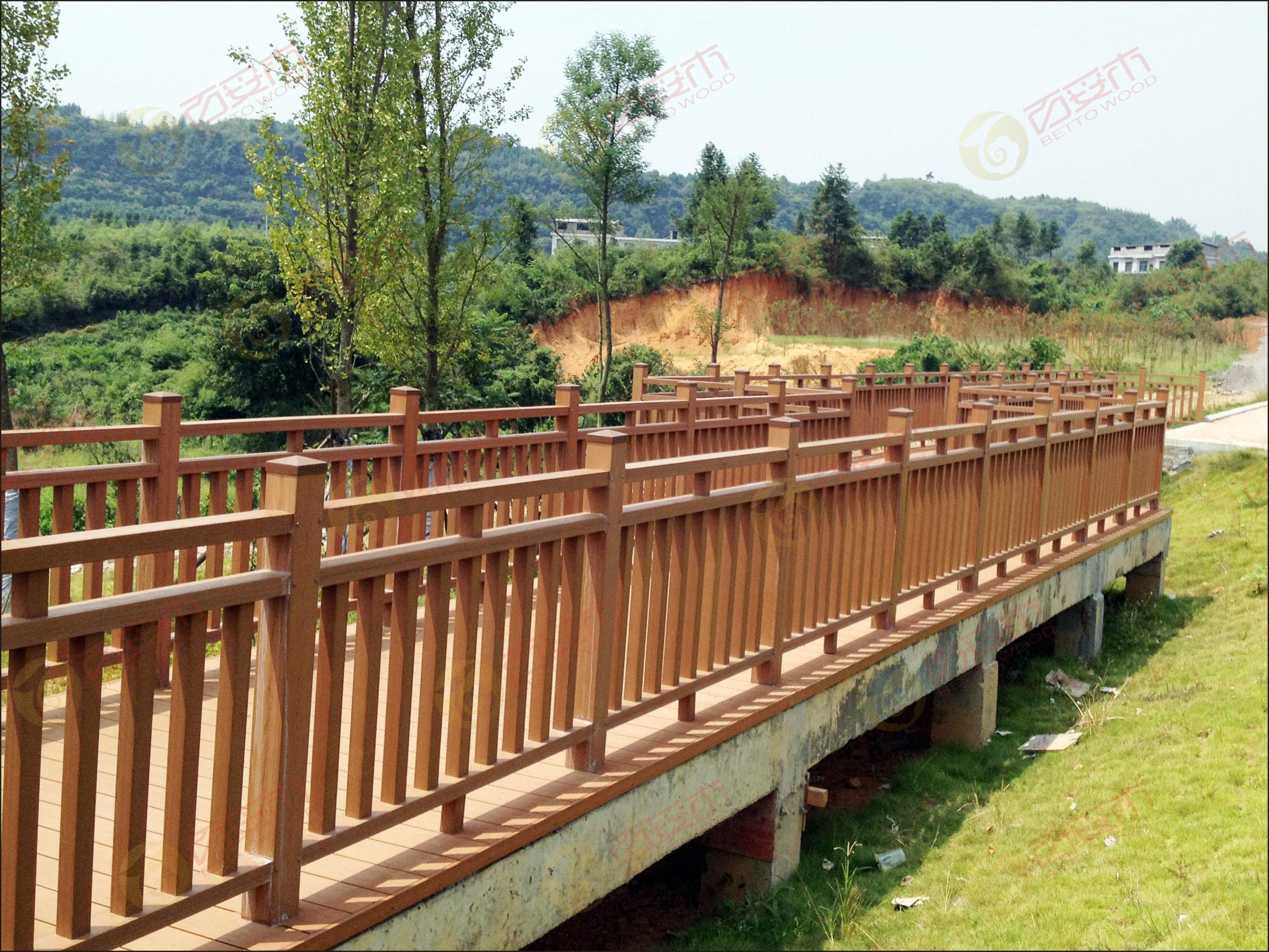 廊架桥立面手绘图